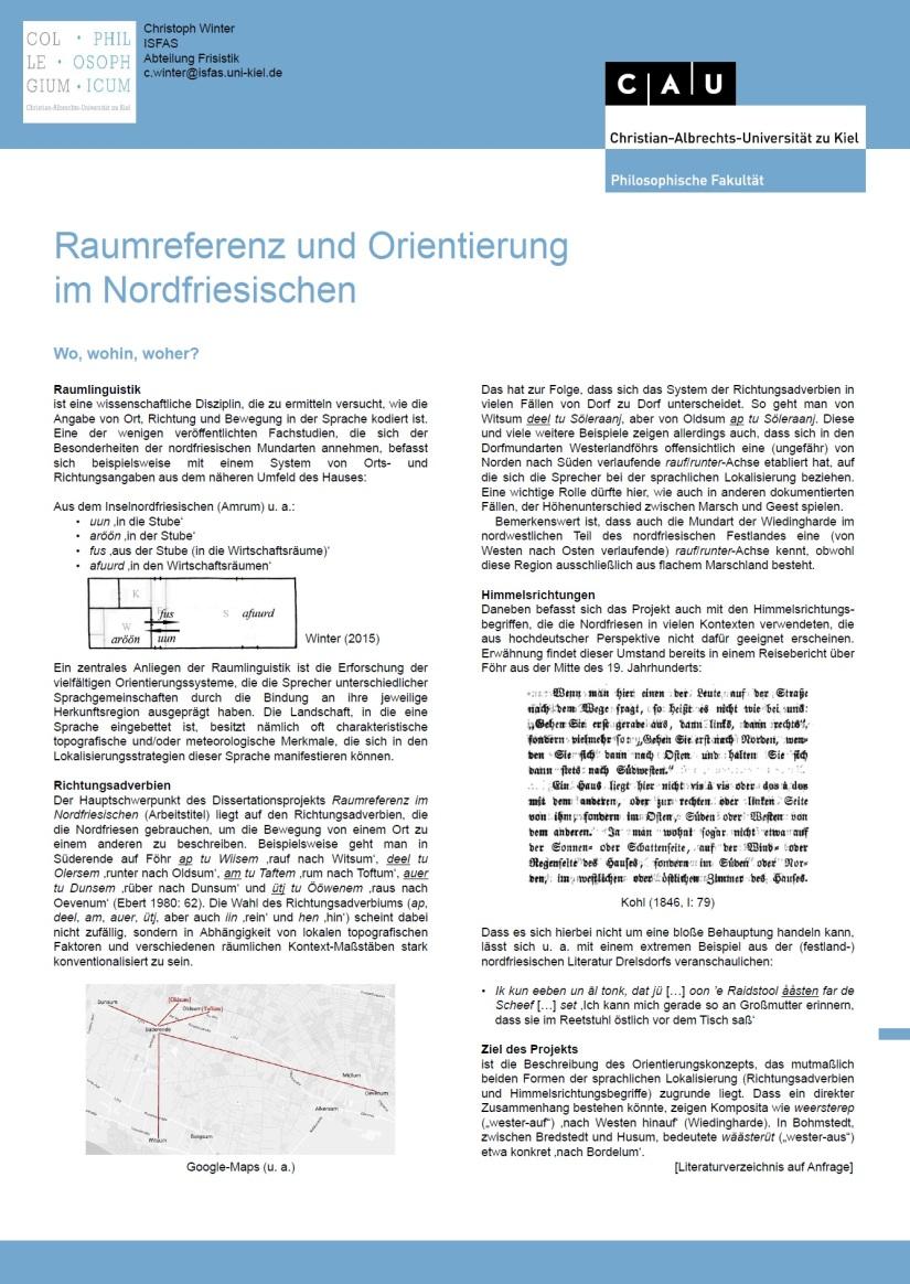 Raumreferenz und Orientierung im Nordfriesischen